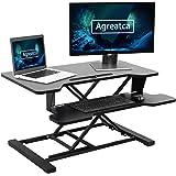 Agreatca Standing Desk 32 Inches| Sit Stand Height Adjustable Desk Converter Riser Home Office Computer Workstation Tabletop