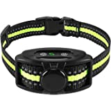 Flittor Bark Collar, NO Shock Anti Barking Dog Collars with Rechargeable Adjustable Sensitivity and Intensity Beep Vibration