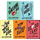 The Brighton Mysteries Series Books 1 -5 Collection Set by Elly Griffiths (Zig Zag Girl, Smoke and Mirrors, Blood Card, Vanis