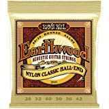 Ernie Ball P02069 Ernie Ball Earthwood 80/20 Bronze Folk Nylon Classic Ball End Acoustic Guitar Strings, 28-42 Gauge, NA