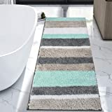 HEBE Extra Long Bath Rug Runner for Bathroom Extra Large Non Slip Microfiber Bathroom Mat Rug Runner Machine Washable Area Ru