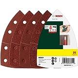 Bosch 25-Piece Sanding Sheet Set For Multi-Sanders 102mm, 40, 80, 120 and 180 Grit