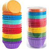Gifbera Bright Rainbow Standard Cupcake Liners Solid Colorful Paper Baking Cups 400-Count