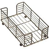 Hoffmaster BSK2112 Wire Guest Towel Basket, 22cm x 13cm x 7.6cm, Bronze