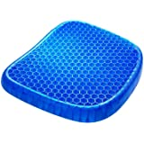 Gel Seat Cushion,Double Thick Egg Seat Cushion with Non-Slip Cover Breathable Honeycomb Pain Relief Egg Sitting Cushion for O