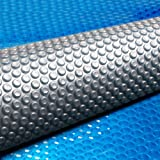 Solar Pool Cover 400 Micron Bubble 9.5M X5M Blue Top Silver Bottom Solar Swimming Pool Heater Blanket for In-Ground Above-Gro