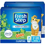 Fresh Step Advanced Cat Litter, Clumping Cat Litter, 99.9% Dust-Free, Gain Scent 37 Pounds (Package May Vary) (2 Pack)