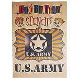 アメリカ軍エンブレムロゴステンシルシート (US ARMY)