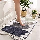 Bathroom Non-Slip Mat, Quick-Drying Absorbent Microfiber Bathroom NonSlip Rug Soft Plush Carpet with Waterproof Backing Washa