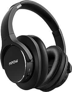 Mpow H6 密閉型 Bluetooth ヘッドホン ワイヤレス ノイズキャンセル 25時間連続再生 マイク付き