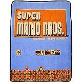"bioWorld Nintendo Super Mario Bros Retro Fleece Throw Blanket, 48"" x 60"""