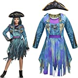 Heariao Halloween Christmas Descendants 3 Cosplay Costumes for Girls Uma Dress Performance Costume