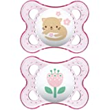 MAM Clear Collection Pacifiers (2 pack, 1 Sterilizing Pacifier Case), MAM Pacifier 0-6 Months, Baby Pacifiers, Baby Girl, Bes