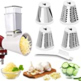 Slicer Shredder Attachments for KitchenAid Stand Mixers Salad Maker Cheese Grater Attachment, Vegetable Slicer Accessory for