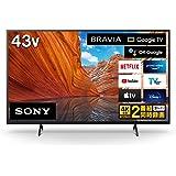 ソニー 43V型 液晶 テレビ ブラビア KJ-43X80J 4Kチューナー 内蔵 Google TV Dolby Atmos対応 Prime Video ボタン搭載 (2021年モデル)