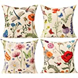 All Smiles Bench Pillows Outdoor Patio Cushion Garden Spring Flowers Throw Pillow Cases Summer Farmhouse Home Decor Linen Cus