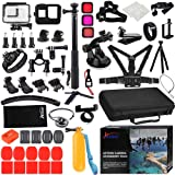 Husiway Action Camera Accessories Kit for Gopro Hero 8 Black Waterproof Housing Silicone Case Glass Screen Protector are Comp