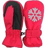 [パンダファミリー] 手袋 ミトン 子供用 キッズ シンプル 滑り止め付 防寒 撥水 スキー 雪遊び