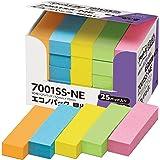 ポストイット 強粘着 付箋 見出し ネオンカラー 50×15mm 90枚×25パッド 7001SS-NE