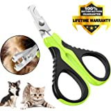 VICTHY Pet Nail Clippers for Small Animals, Dog/Cat Nail Clippers Claw Toenail Trimmer, Professional Home Grooming Tool for C