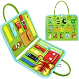 Busy Board,Toddler Sensory Toys,Montessori Learning Education Toys for 1 2 3 4 Baby Kids Preschool Autistic Travel Toy Alphab