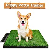 Ezonedeal Dog Toilet Indoor Puppy Training Pad, Dog Potty Pet Training Grass Mat, Removable Waste Tray for Easier Clean Up, N