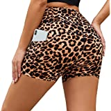 HIGHDAYS Yoga Shorts for Women with Pockets - High Waist Workout Shorts for Biker, Running, Athletic