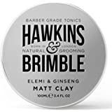 Hawkins & Brimble Matt Clay 100ml/ 3.4 fl oz - Non Greasy Matte Hair Styling For Men | Softens and Allows for Restyling | Nat