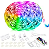 10M Led Strip Lights 44 Keys RF Remote Controller Color Changing Led Strips for Bedroom Kitchen TV Desk Party Wedding