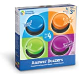 Learning Resources LER3774 Answer Buzzers educational toys, Multi, 3-1/2in, 4 Pieces