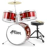 Tiger 3 Piece Junior Drum Kit - Red