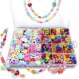 Bead Kids Set for Jewelery Making - Craft Beads Kits for Little Girls DIY Necklaces Bracelet Children Games,Gift for Kids. Je
