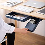 Under Desk Drawer Self-Adhesive Desk Organizer Hidden Office/Home Storage Pull-Down Type Table Container For Stationery Plast