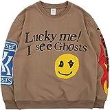 Kanye Lucky Me I See Ghosts Hoodie Hip Hop Heavyweight Hooded Khaki
