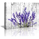 """Bedroom Wall Decor Modern Artwork Purple Lavender Canvas Wall Art Paintings 12""""x16""""Style Lavender Flowers Picture on White Vi"""