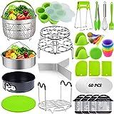 Sugaroom 101 PCS Pressure Cooker Accessories Set Compatible with Instant Pot Accessories 6 qt 8 quart - 2 Steamer Baskets, Sp