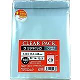 カクケイ OPP袋 クリアパック フタ付 テープ付 30μ 100枚 TP14-15.5