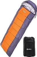 LICLI 寝袋 冬用 コンパクト 軽量 封筒型 シュラフ 1.8kg フード付き 220cm 収納袋付き 8カラー 最低使用温度 -5度