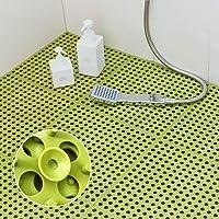 Tiko お風呂マット 滑り止め バスマット 浴室マット キッチンマット 吸盤つき DIY つづり合わせ 風呂 防カビ…