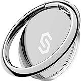Syncwire スマホリング 携帯リング 薄型 360°回転 落下防止 指輪型 スタンド機能 ホールドリング フィンガーリング iPhone/Android各種他対応-シルバー