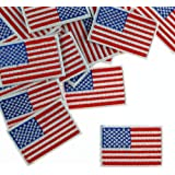 10 Patches - Small American USA Flag US United States of America Iron/Sew on Patch