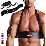 DMoose Fitness Arm Curl Blaster for Bicep Body Building and Muscle Strength Gains, Contoured and Adjustable Isolate for Curli