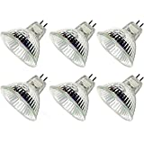CTKcom Halogen Light Bulbs(6 pack) - 12Volt 20Watt MR16 Halogen Lamp Bi Pin Wide Beam High Lumens 2000Hr Life Precision Halog