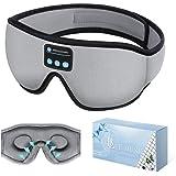 Sleep Headphones Bluetooth Eye Mask, 20-28 in Adjustable FREGENBO Music 3D Sleep Mask 2020 Upgraded, Wireless Sleeping Headph