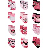 Disney Baby Girls' Socks - 12 Pack Minnie Mouse, Daisy, Disney Princess (Newborn/Infant)