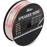 Postta スピーカーケーブル 純銅スピーカーワイヤー スピーカーコード オーディオケーブル 無酸素銅 (OFC) 16ゲージ 30m