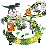 WTOR おもちゃ 車 レール 恐竜 セット 組み立て 軌道 動物 子供 知育玩具 収納簡単 プレゼント 保育園教具 女の子 男の子 クリスマス プレゼント(221pcs)