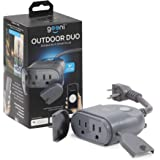 Geeni Outdoor Smart Plug, Weatherproof WiFi Outdoor Smart Outlet with 2 Sockets - No Hub Required, Outdoor Smart Plugs Works