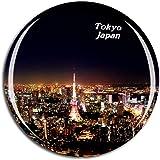 Weekino 日本東京タワー冷蔵庫マグネット3Dクリスタルガラス観光都市旅行お土産コレクションギフト強い冷蔵庫ステッカー