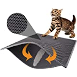 "Pieviev Cat Litter Mat Litter Trapping Mat, 30"" X 24"" Inch Honeycomb Double Layer Design Waterproof Urine Proof Trapper Mat f"